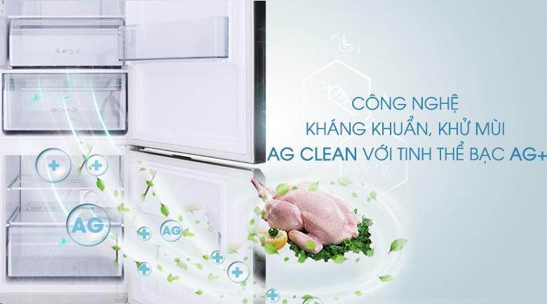 Công nghệ kháng khuẩn, khử mùi Ag Clean với tinh thể bạc Ag+ - Tủ lạnh Panasonic Inverter 322 lít NR-BC369QKV2