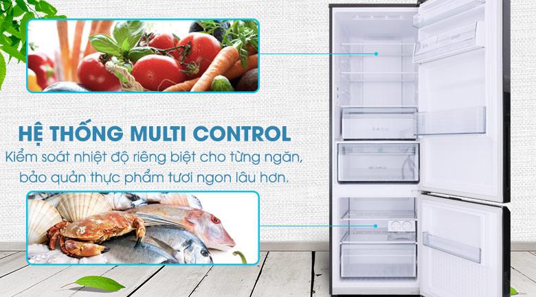 Hệ thống Multi Control kiểm soát nhiệt độ riêng của từng ngăn tủ - Tủ lạnh Panasonic Inverter 322 lít NR-BC369QKV2