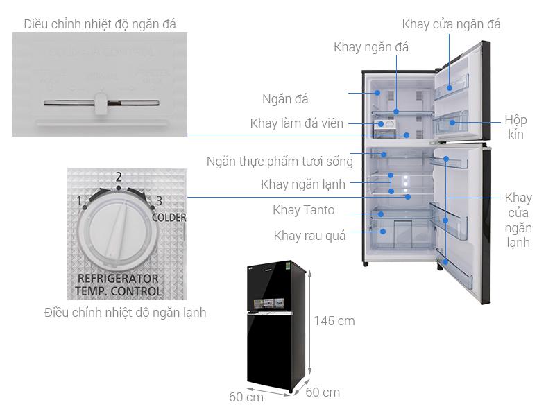Thông số kỹ thuật Tủ lạnh Panasonic Inverter 234 lít NR-BL267PKV1