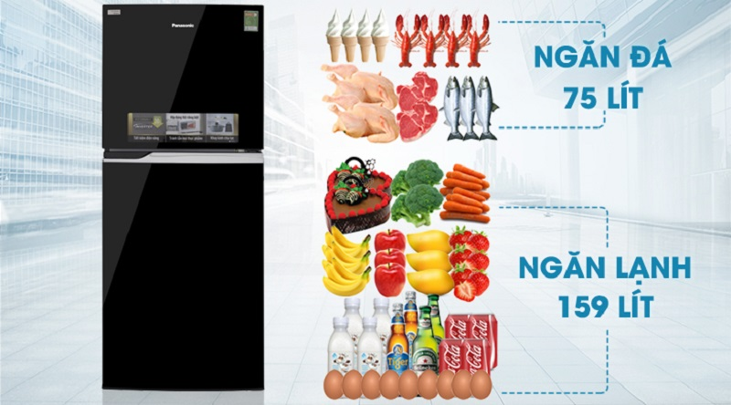 Thoải mái sử dụng với dung tích 234 lít - Tủ lạnh Panasonic Inverter 234 lít NR-BL267PKV1