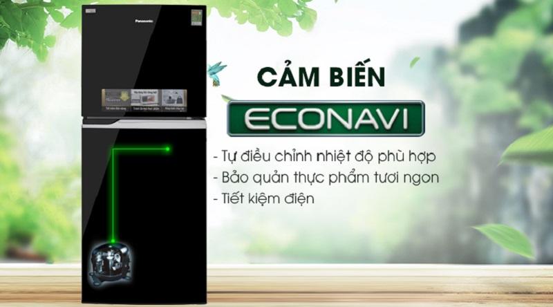Tiết kiệm điện tốt hơn với cảm biến Econavi - Tủ lạnh Panasonic Inverter 234 lít NR-BL267PKV1