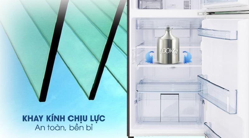 Khay chứa thiết kế chịu lực tốt, giúp bạn an tâm khi sử dụng - Tủ lạnh Panasonic Inverter 234 lít NR-BL267PKV1