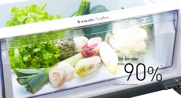 Ngăn rau quả Fresh Safe - Tủ lạnh Panasonic Inverter 234 lít NR-BL267PKV1
