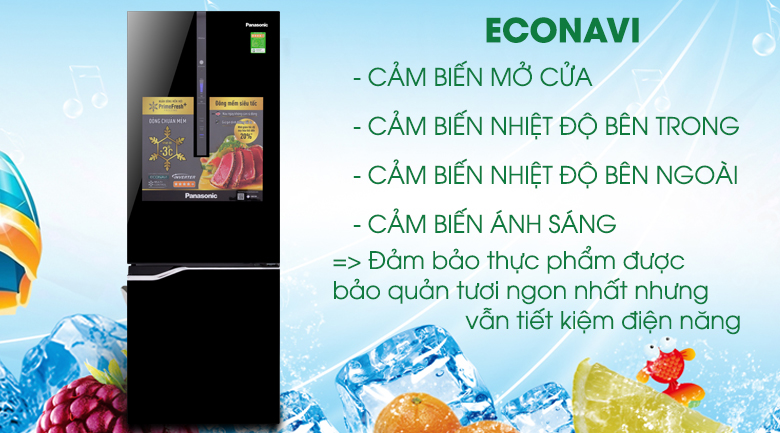 Tủ lạnh Panasonic Inverter 255 lít NR-BV288GKV2 - Econavi