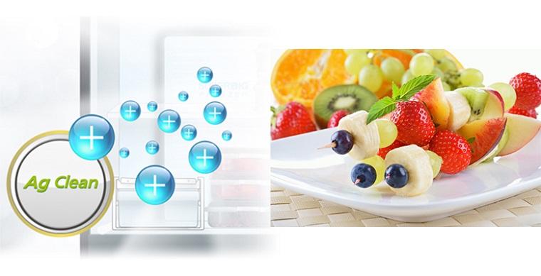 Công nghệ kháng khuẩn Ag Clean với tinh thể bạc Ag+ - Tủ lạnh Panasonic Inverter 255 lít NR-BV288GKV2