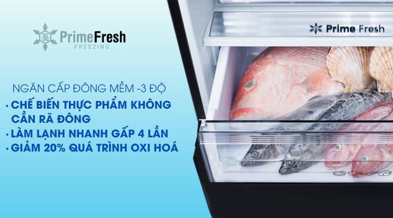 Ngăn đông mềm Prime Fresh -Tủ lạnh Panasonic Inverter 255 lít NR-BV289QSV2