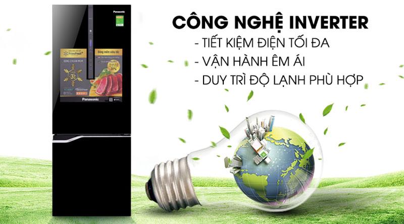 Công nghệ Inverter hỗ trợ tiết kiệm tối ưu - Tủ lạnh Panasonic Inverter 322 lít NR-BV368GKV2