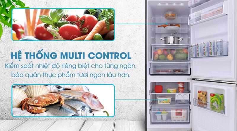 hệ thống Multi Control - Tủ lạnh Panasonic Inverter 290 lít NR-BV328GKV2