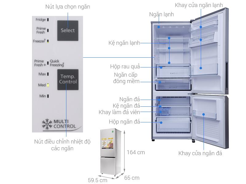 Thông số kỹ thuật Tủ lạnh Panasonic Inverter 290 lít NR-BV329QSV2
