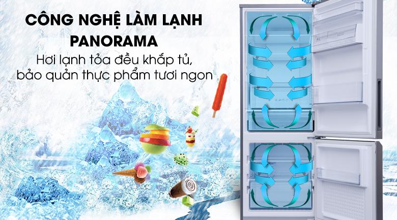 Công nghệ làm lạnh Panorama giúp làm lạnh mọi ngăn tủ nhanh chóng - Tủ lạnh Panasonic Inverter 290 lít NR-BV329QSV2