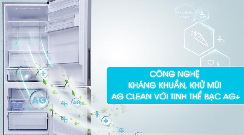Công nghệ kháng khuẩn, khử mùi Ag Clean với tinh thể bạc Ag+ - Tủ lạnh Panasonic Inverter 290 lít NR-BV329QSV2