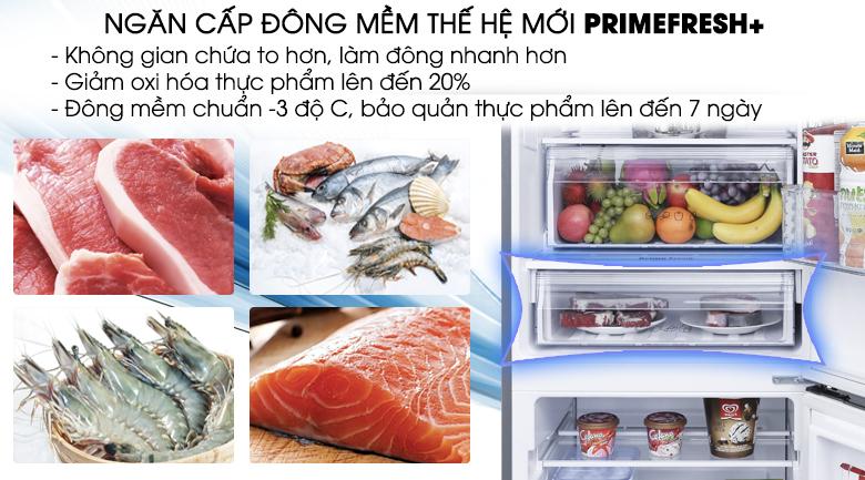 Ngăn đông mềm Prime Fresh+ để bảo quản thịt cá - Tủ lạnh Panasonic Inverter 290 lít NR-BV329QSV2