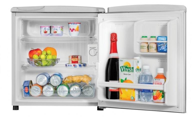Khay kính chịu lực cao - Tủ lạnh Aqua 50 lít AQR-55ER (SS) Xám Nhạt