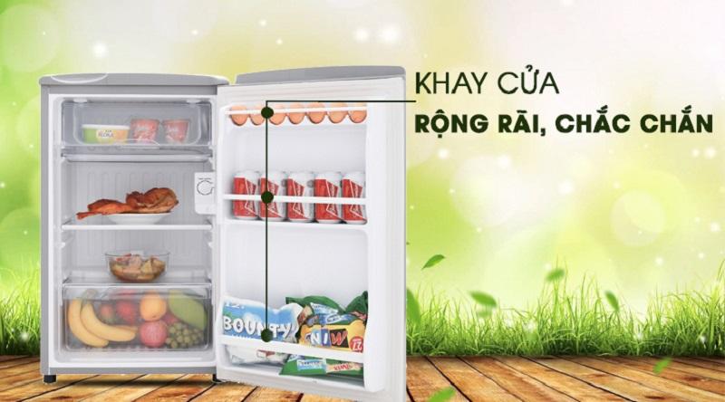 Khay cửa rộng rãi chắc chắn - Tủ lạnh Aqua 90 lít AQR-95ER (SS)
