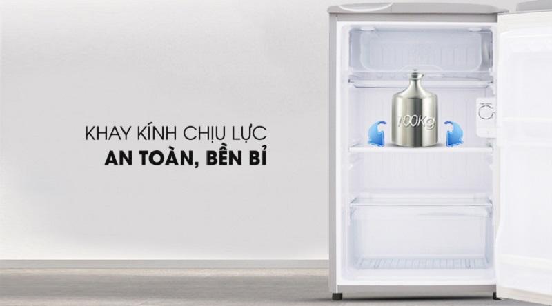 Khay chứa chịu lực an toàn bền bỉ - Tủ lạnh Aqua 90 lít AQR-95ER (SS)