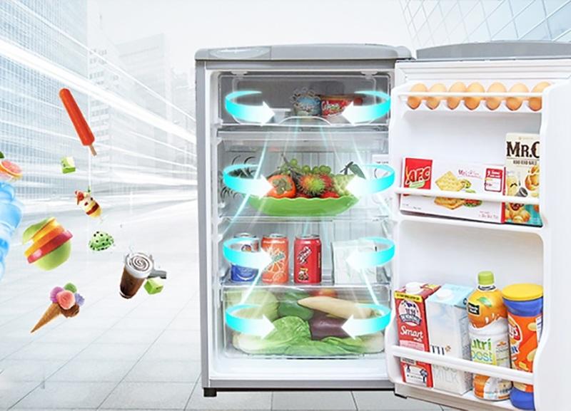 Công nghệ làm lạnh trực tiếp - Tủ lạnh Aqua 90 lít AQR-95ER (SS)