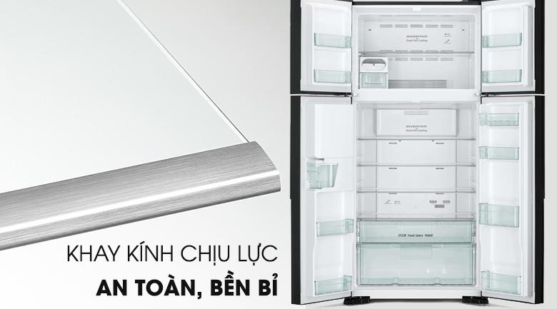 Khay kính chịu lực- Tủ lạnh Hitachi Inverter 540 lít R-FW690PGV7 GBK