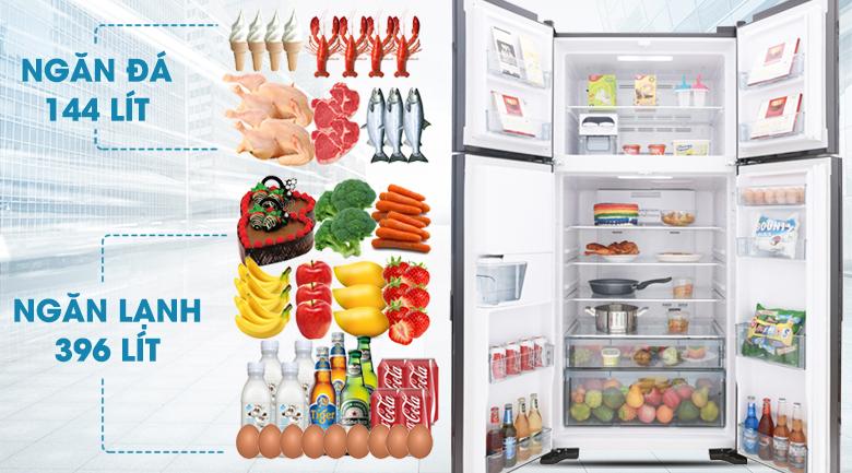 Dung tích 540 lít - Tủ lạnh Hitachi Inverter 540 lít R-FW690PGV7 GBK