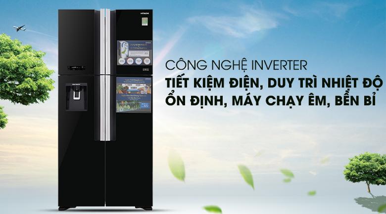 Công nghệ Inverter - Tủ lạnh Hitachi Inverter 540 lít R-FW690PGV7 GBK