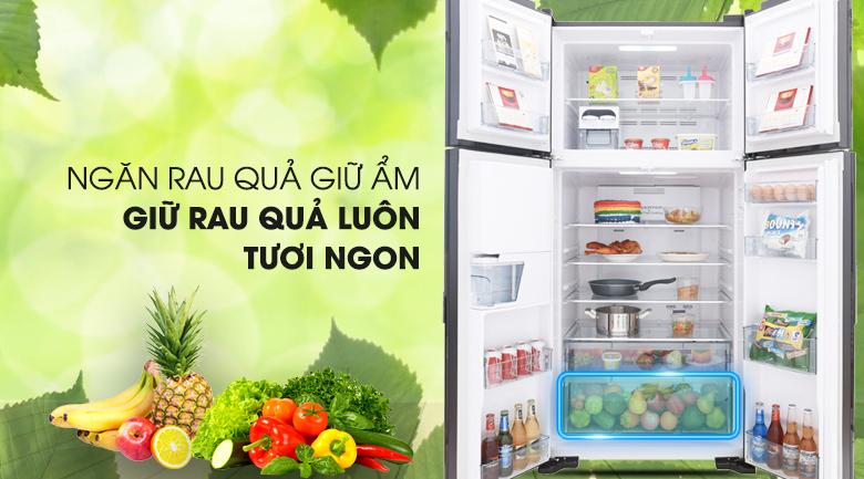 Ngăn rau củ - Tủ lạnh Hitachi Inverter 540 lít R-FW690PGV7 GBK