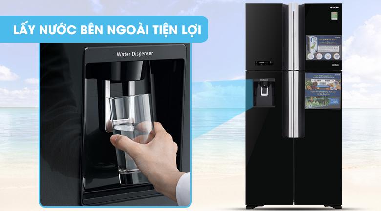 Lấy nước ngoài - Tủ lạnh Hitachi Inverter 540 lít R-FW690PGV7 GBK