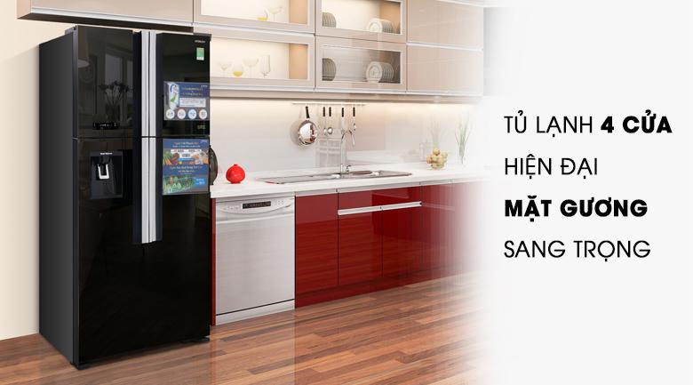 Thiết kế - Tủ lạnh Hitachi Inverter 540 lít R-FW690PGV7