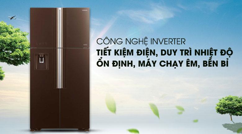 Công nghệ Inverter tiết kiệm điện - Tủ lạnh Hitachi Inverter 540 lít R-FW690PGV7 GBW