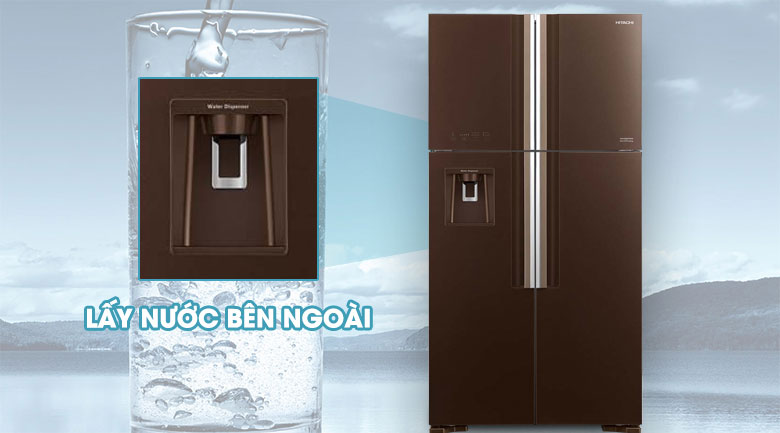 Lấy nước bên ngoài - Tủ lạnh Hitachi Inverter 540 lít R-FW690PGV7 GBW