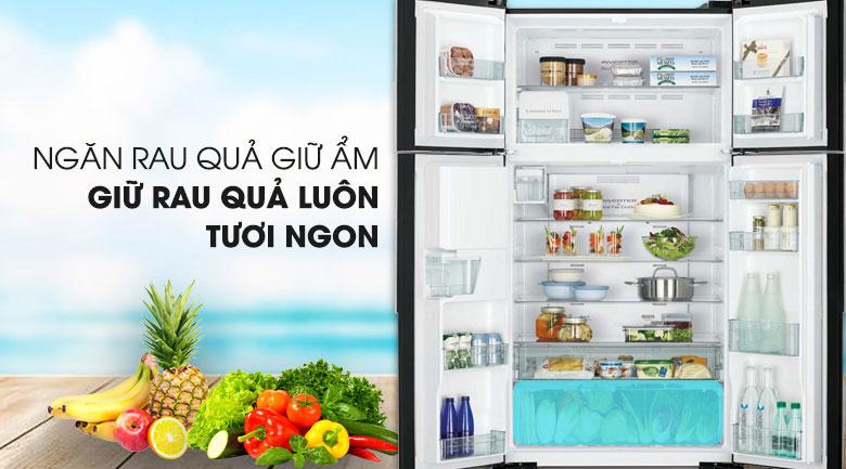 Ngăn rau củ quả giữ ẩm - Tủ lạnh Hitachi Inverter 540 lít R-FW690PGV7 GBW