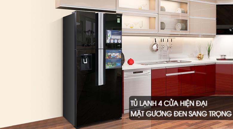 Thiết kế - Tủ lạnh Hitachi Inverter 540 lít R-FW690PGV7X