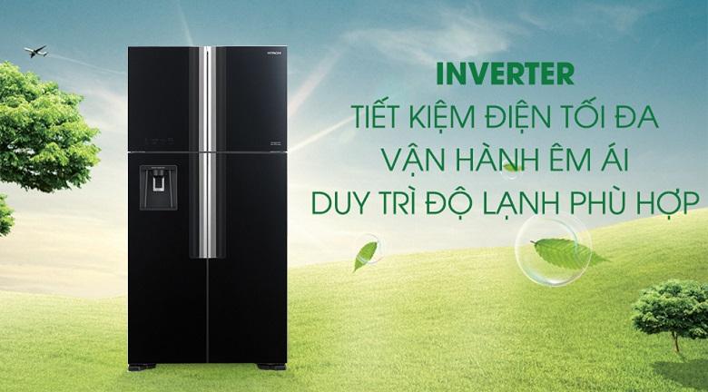 Công nghệ Inverter - Tủ lạnh Hitachi Inverter 540 lít R-FW690PGV7X GBK