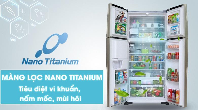 Màng lọc Nano Titanium - Tủ lạnh Hitachi Inverter 540 lít R-FW690PGV7X GBK