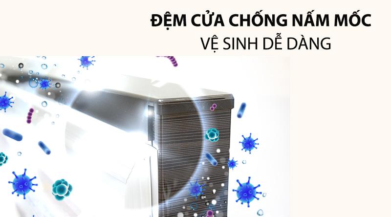 Tủ lạnh Hitachi Inverter 540 lít R-FW690PGV7X GBW-Vệ sinh tủ dễ dàng với đệm cửa chống nấm mốc