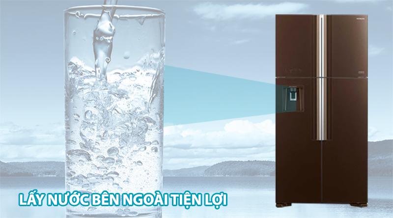 Tủ lạnh Hitachi Inverter 540 lít R-FW690PGV7X GBW-Tiện lợi cùng bộ phận thiết kế lấy nước bên ngoài