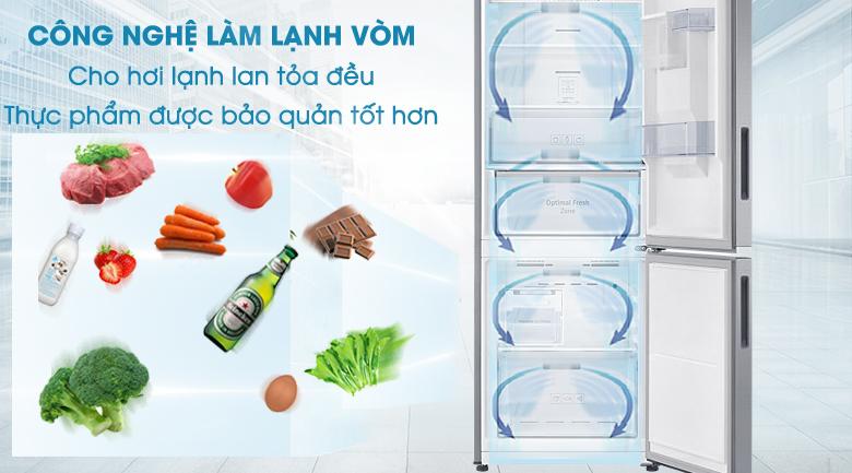Làm lạnh vòm - Tủ lạnh Samsung Inverter 307 lít RB30N4170S8/SV