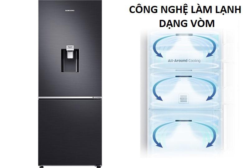 Làm lạnh dạng vòm - Tủ lạnh Samsung Inverter 307 lít RB30N4180B1/SV