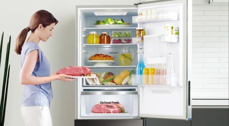 Tủ lạnh ngăn đá dưới - Tủ lạnh Samsung Inverter 307 lít RB30N4180B1/SV