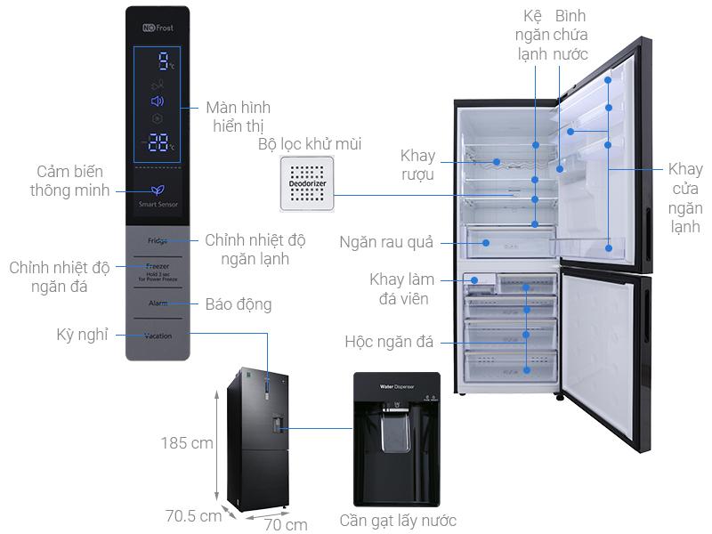 Thông số kỹ thuật Tủ lạnh Samsung Inverter 458 lít RL4364SBABS/SV