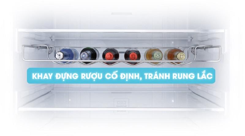 Có khay chứa thiết kế riêng cho đựng rượu - Tủ lạnh Samsung Inverter 458 lít RL4364SBABS/SV