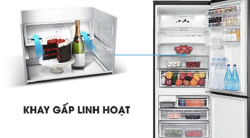 Các khay chứa có thể gấp lại linh hoạt - Tủ lạnh Samsung Inverter 458 lít RL4364SBABS/SV