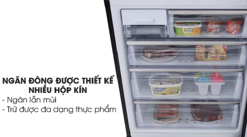 Ngăn đông có nhiều khay kín giúp bảo quản thực phẩm tốt hơn - Tủ lạnh Samsung Inverter 458 lít RL4364SBABS/SV