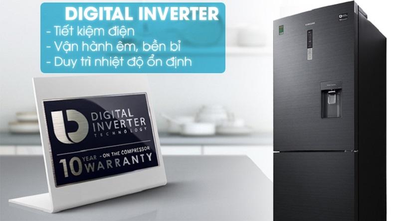 Trang bị công nghệ Digital Inverter hiện đại - Tủ lạnh Samsung Inverter 458 lít RL4364SBABS/SV