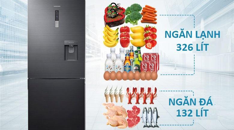 Dung tích 458 lít - Tủ lạnh Samsung Inverter 458 lít RL4364SBABS/SV