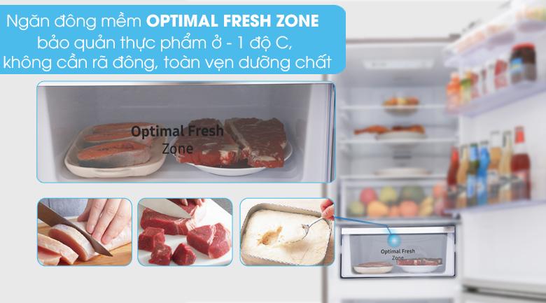 Ngăn đông mềm Optimal Fresh Zone - Tủ lạnh Samsung Inverter 310 lít RB30N4010S8/SV