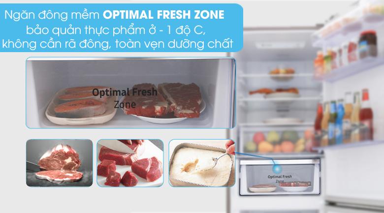 Ngăn đông mềm giữ thực phẩm tươi lâu - Tủ lạnh Samsung Inverter 310 lít RB30N4010S8/SV