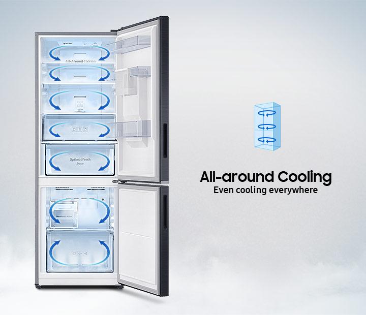 Công nghệ làm lạnh vòm - Tủ lạnh Samsung Inverter 310 lít RB30N4010S8/SV