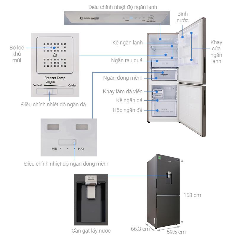 Thông số kỹ thuật Tủ lạnh Samsung Inverter 276 lít RB27N4180B1/SV