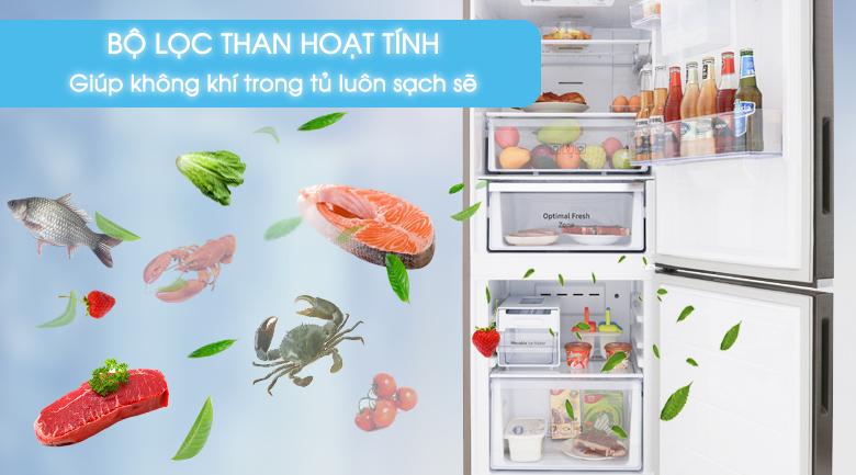 Bộ lọc than hoạt tính giúp thực phẩm tươi ngon - Tủ lạnh Samsung Inverter 276 lít RB27N4180B1/SV