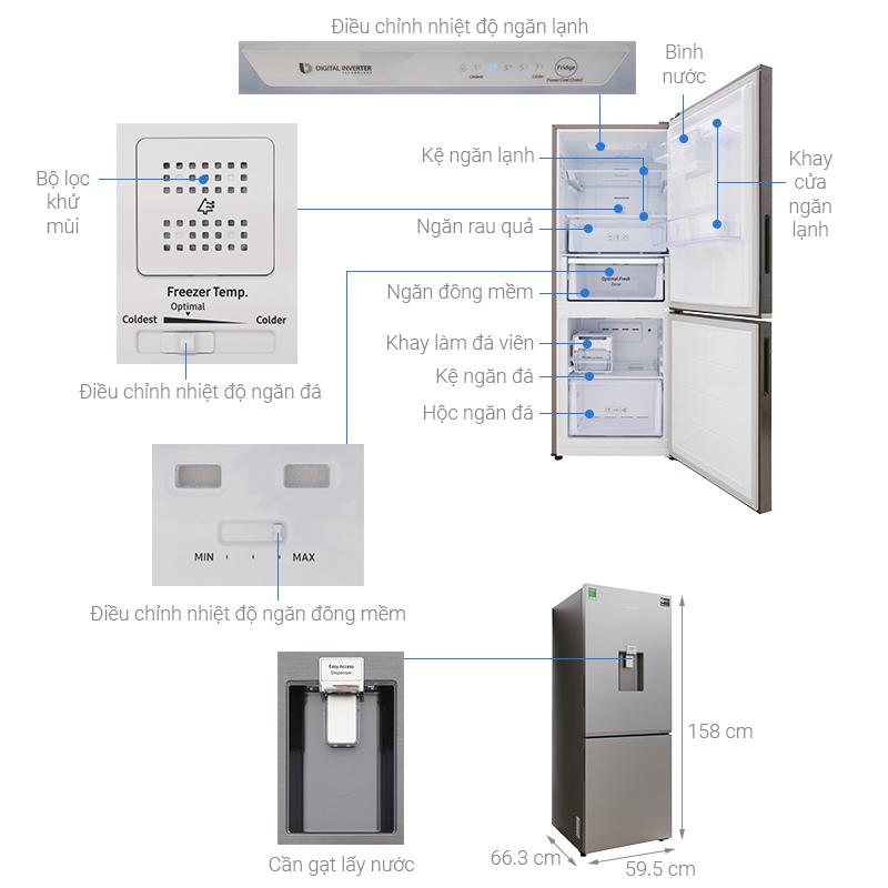 Thông số kỹ thuật Tủ lạnh Samsung Inverter 276 lít RB27N4170S8/SV