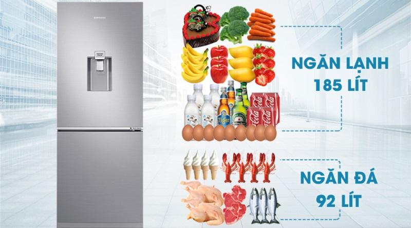 Dung tích tủ lạnh tới 276 lít - Tủ lạnh Samsung Inverter 276 lít RB27N4170S8/SV